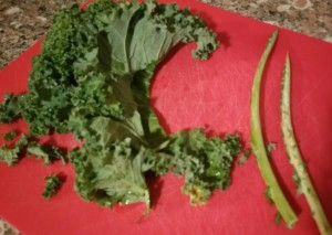 kale and stems