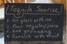 Tequila Sunrise Directions
