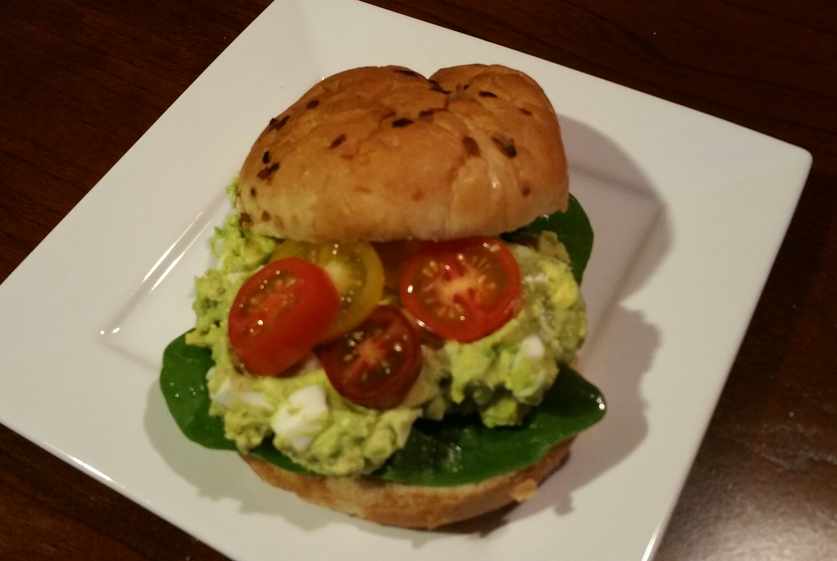 Creamy Guacamole Egg Salad Sandwich Recipe — Dishmaps